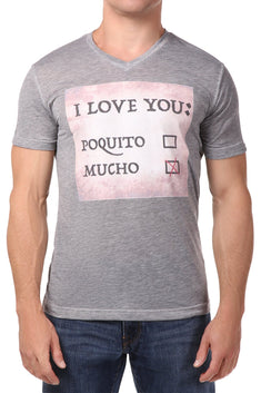 Spenglish Heather Grey I Love You Tee