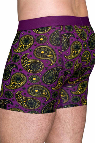 Happy Socks Purple Paisley Boxer Brief