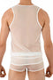 Gregg Homme White Erotik Ultra Sheer Mesh Tank Top
