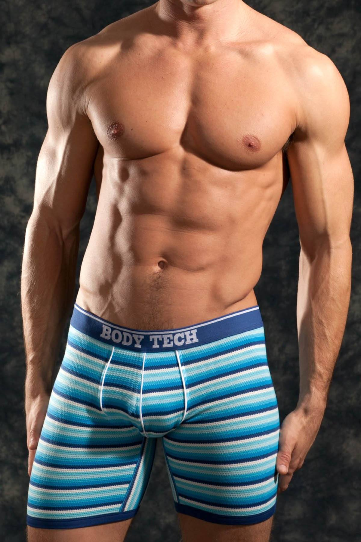 Body Tech Blue Striped Boxer Brief