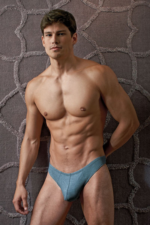 Contour Blue Luxe Jersey Thong - CheapUndies.com