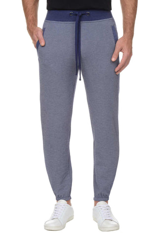 2(X)IST Blue Textured Drawstring Lounge Pants