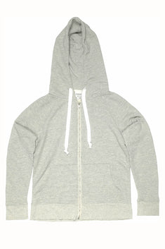 Rxmance Unisex Heather Grey Hooded Zip Sweatshirt