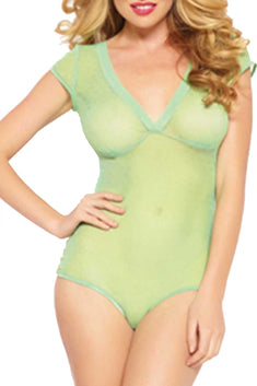 Seven 'Til Midnight Mint Open-Back Mesh Teddy