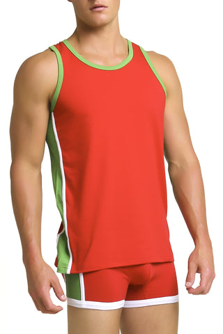 Papi Red Heritage Tank Top