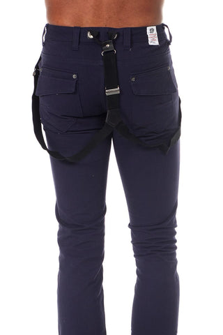 Something Strong Navy Suspender Pant