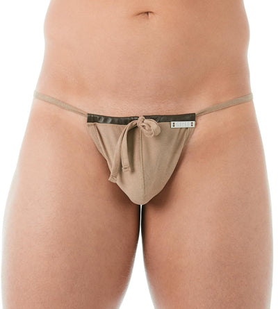 Gregg Homme Sand Wild West Faux-Suede String - CheapUndies.com