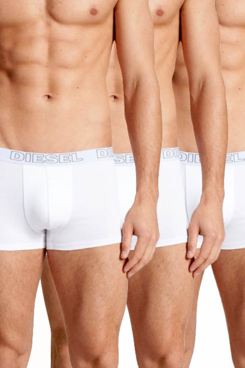 Diesel White Shawn Stretch-Cotton Essential Trunk 3-Pack - CheapUndies.com
