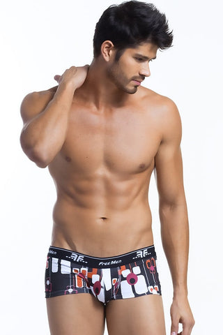 Freemen Black Retro Printed Trunk
