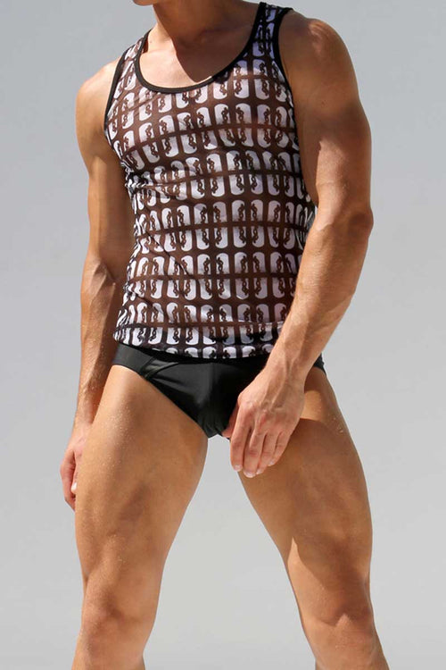 Rufskin Tommy Printed Tom of Finland Tommy Mesh Sport Tank Top - CheapUndies.com