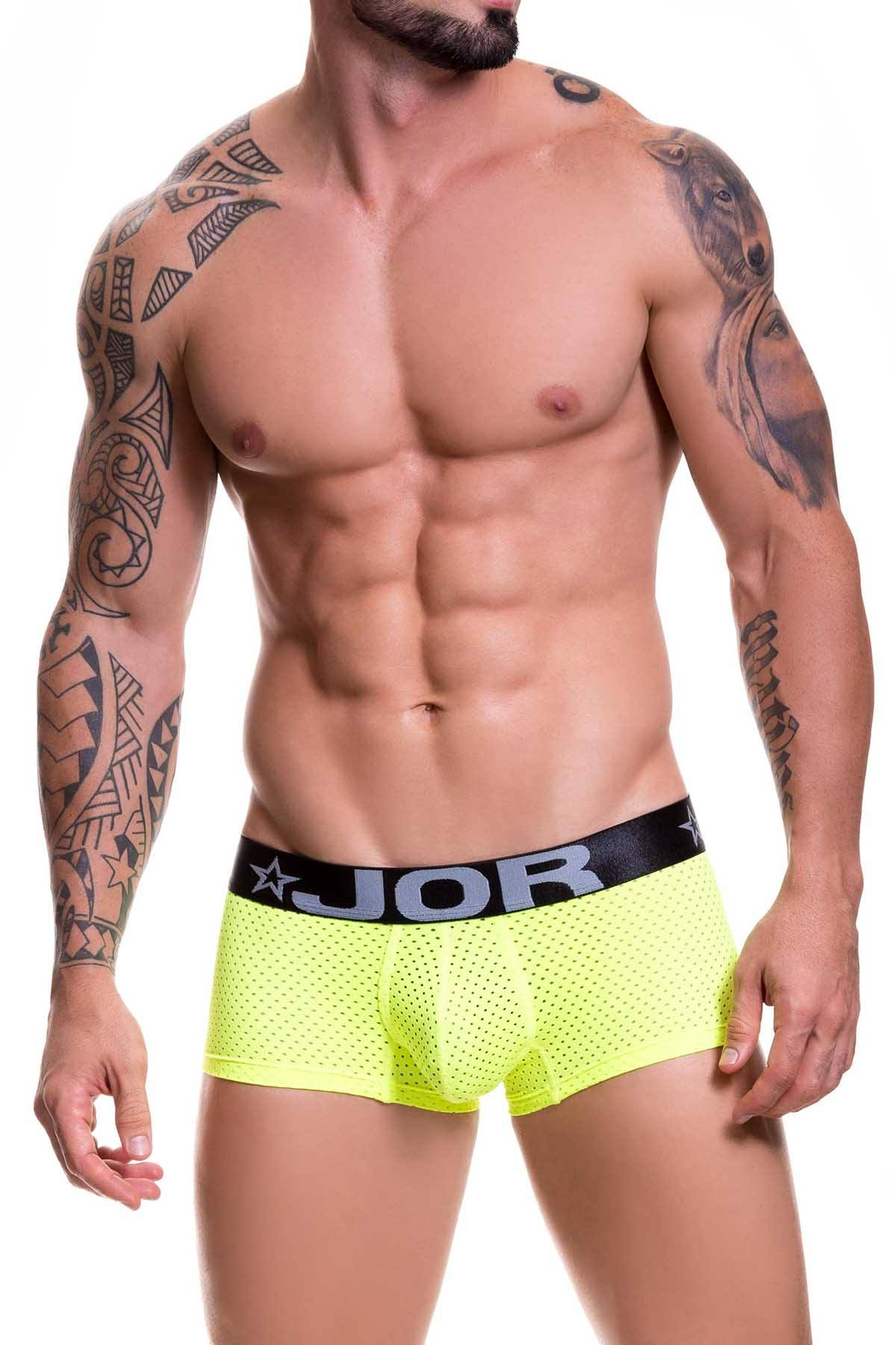 Jor Neon-Yellow/Black Cronos Boxer-Trunk