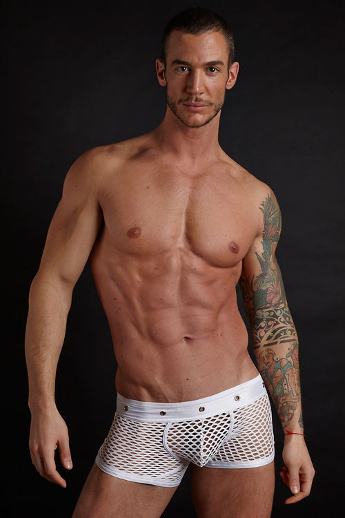 Hardwear White Grommet Trunk - CheapUndies.com