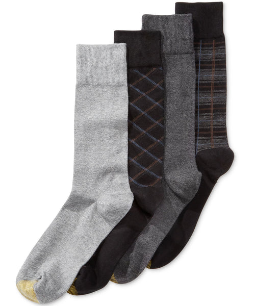 Gold Toe 4-Pk. Plaid Dress Socks 10-13 - CheapUndies.com
