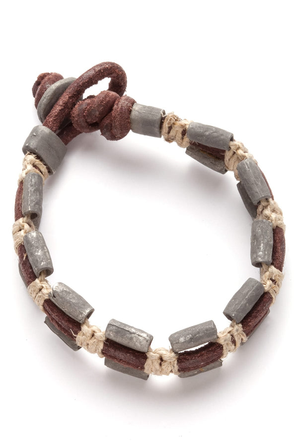 Amigaz Brown Stylus Pewter Bracelet - CheapUndies.com