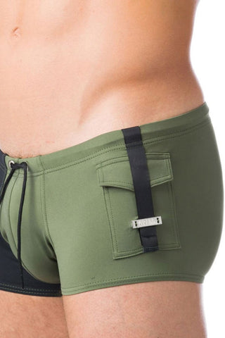 Gregg Homme Khaki Magnetic Swim Trunk
