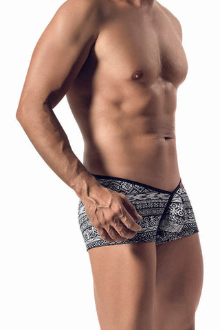 Pikante Black Southwestern Boxer Brief