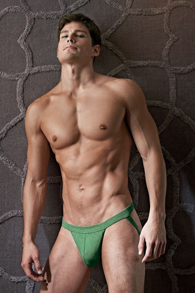 Contour Army-Green Luxe Jersey Jockstrap - CheapUndies.com