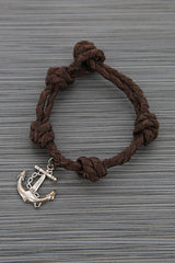 Rave Anchor Brown knotted Bracelet
