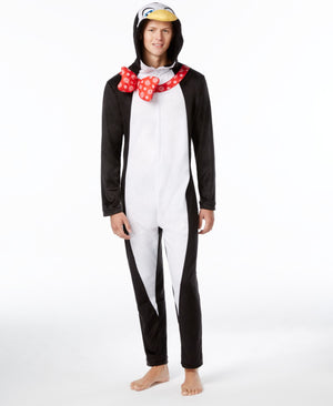 Penguin Adult Pajamas With Hood