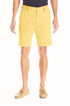 Nautica Corn Cotton-Twill Flat-Front Deck Short