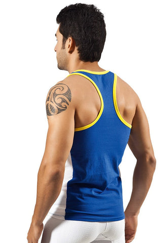 Clever Blue Sporty Tank Top