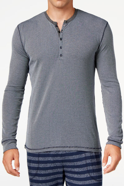 Kenneth Cole Blue Stripe Long Sleeve - CheapUndies.com