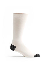 Ozone White Basic Calf Sock