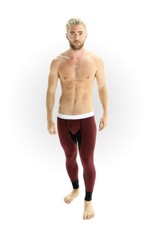 CheapUndies Burgundy & Black Long Undies Set