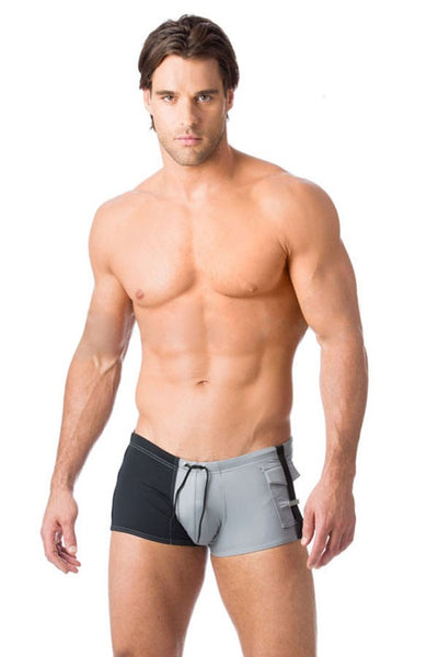 Gregg Homme Grey Magnetic Swim Trunk