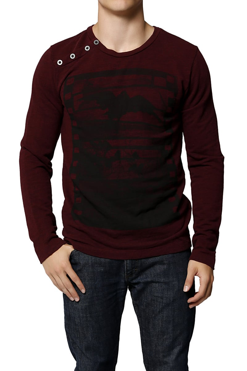 Black Hearts Brigade Oxblood Raven Reel Sweater