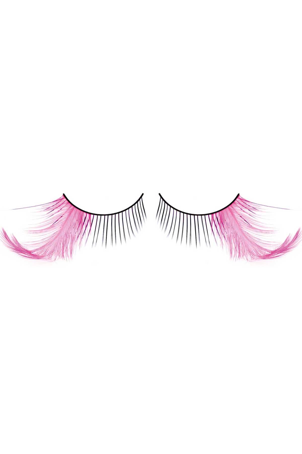Baci Black with Pink Feather Paradise Dreams Eyelashes