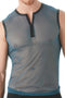 Gregg Homme Blue Break-In Muscle Mesh Shirt