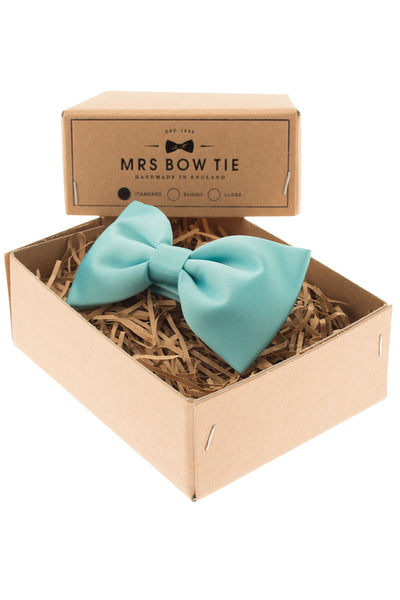 Mrs. Bow Tie Classic In Turquoise Standard Bow Tie - CheapUndies.com