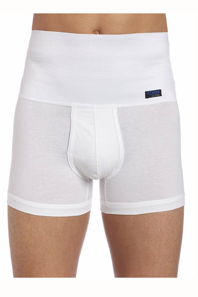 2(X)IST White 8 Inch Shaper Boxer Brief