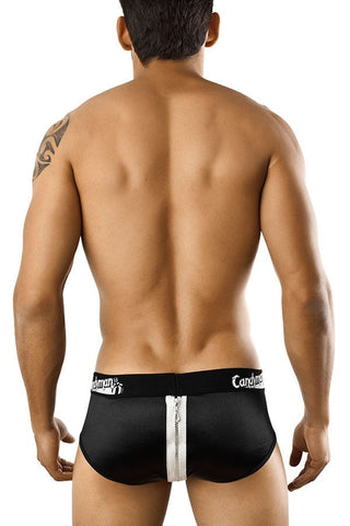 Candyman Black Zipper Brief