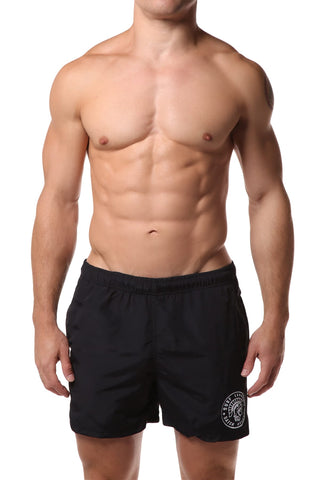 Datch Solid Black Gladiator Swim Short