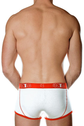 4Skins White & Red Contrast Boxer Brief