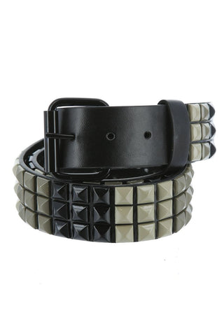 Black & Grey Color Blocks Belt