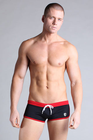 Timoteo Black & Red Speedster Swim Trunk
