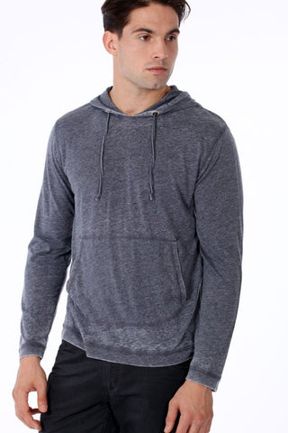 ONE90ONE Dark Blue Slim Fit Hoodie