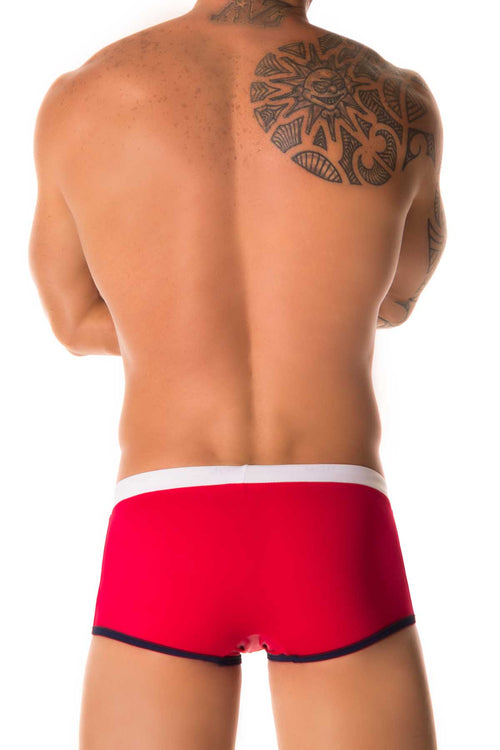 Jor Red Sport Swimwear Boxer - CheapUndies.com