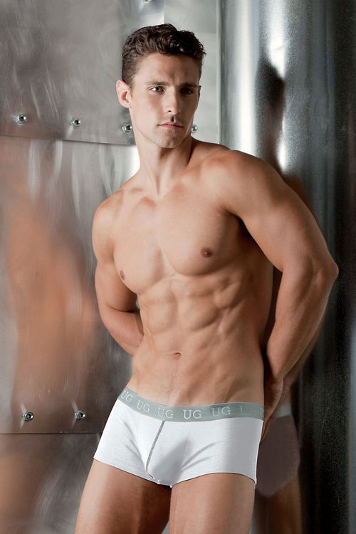 Undergear White Silver-Band Mini Trunk - CheapUndies.com