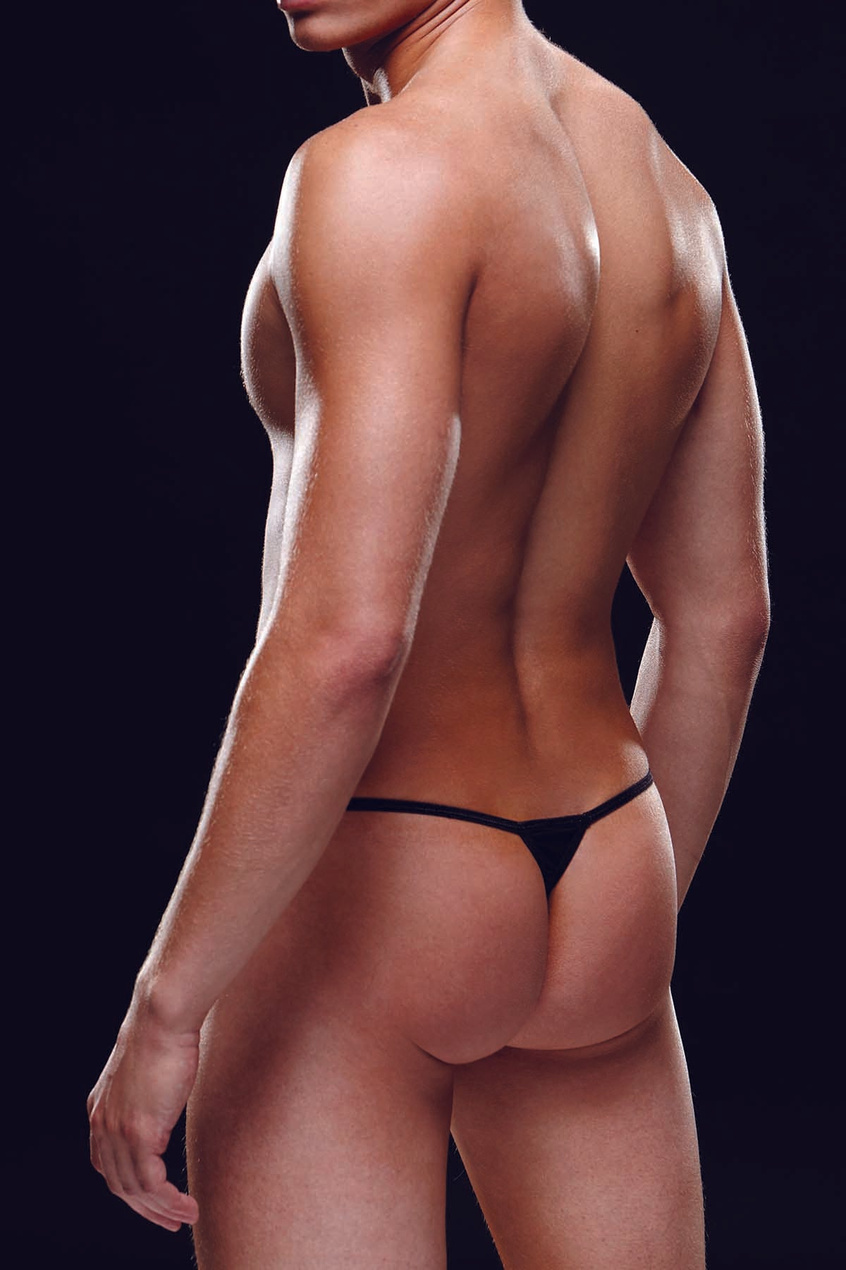 Envy Black Microfiber G-String