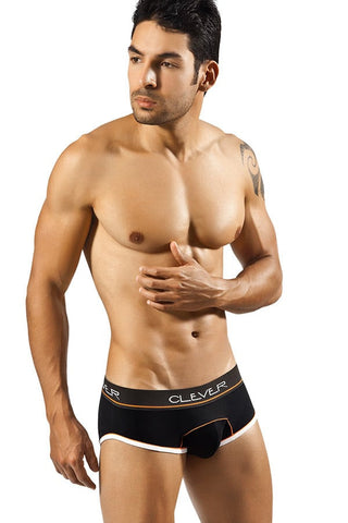 Clever Black New Piping Brief