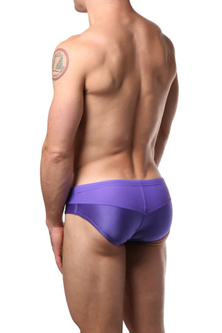 Modus Vivendi Purple Contrast Swim Brief