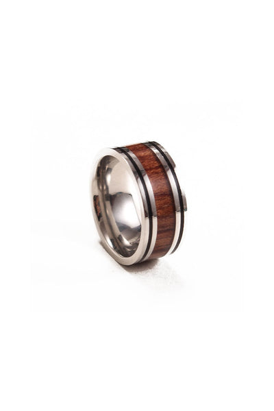 Something Strong Wood Inlay Ring