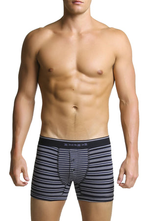 Papi Grey Stripe Mix Boxer Brief