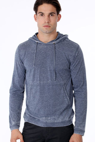 ONE90ONE Blue Slim Fit Hoodie