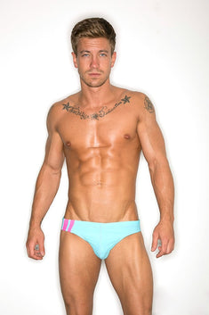 CheapUndies Neon Blue Racing Swim Brief