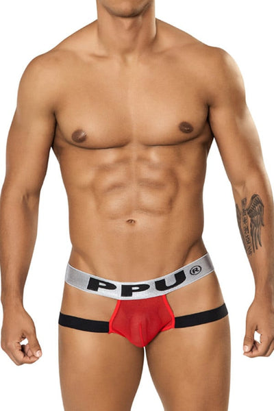PPU Red Sheer Strap Trunk